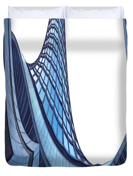 Curves - ArchiFou 42 Duvet Cover by Aimelle