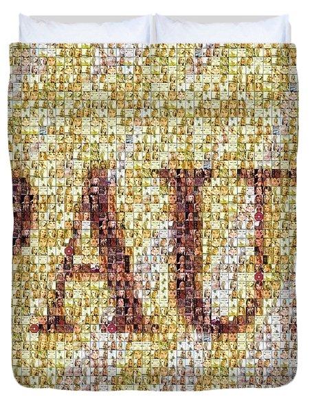 Custom Paul Mosaic Taylor Swift Duvet Cover by Paul Van Scott