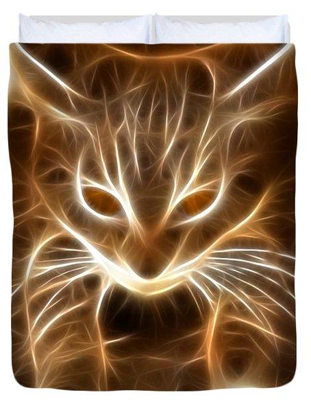 Cute Little Kitten Duvet Cover by Pamela Johnson