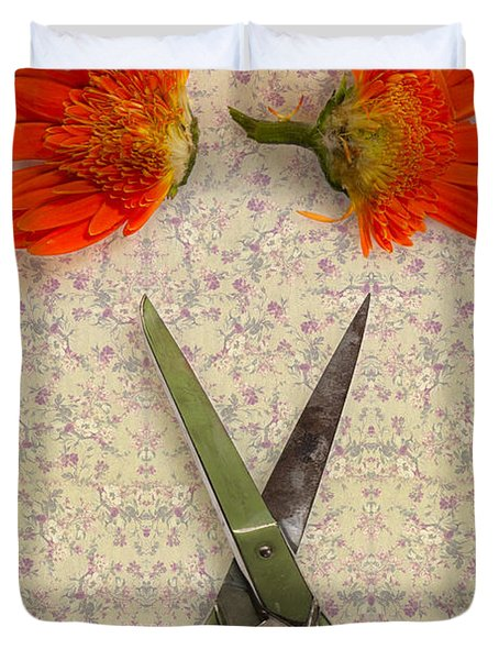 Cutting Flowers Duvet Cover by Joana Kruse