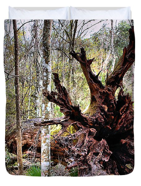 Cypress Roots Duvet Cover by Kristin Elmquist