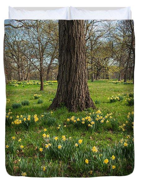 Daffodil Glade Number 2 Duvet Cover by Steve Gadomski