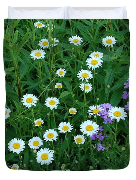 Daisies Duvet Cover by Aimee L Maher Photography and Art