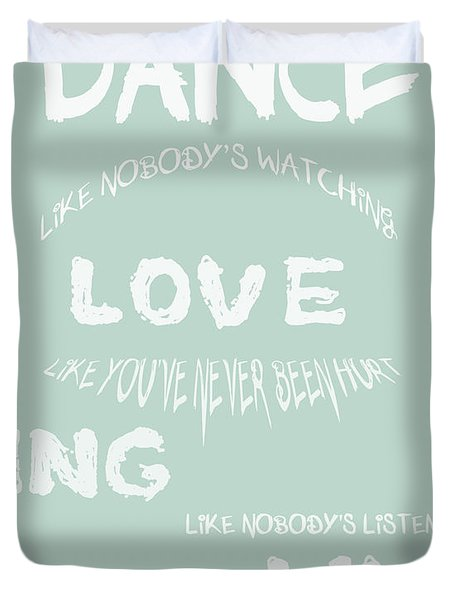 Dance Like Nobody's Watching - Blue Duvet Cover by Nomad Art And  Design