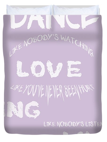Dance Like Nobody's Watching - Lilac Duvet Cover by Nomad Art And  Design