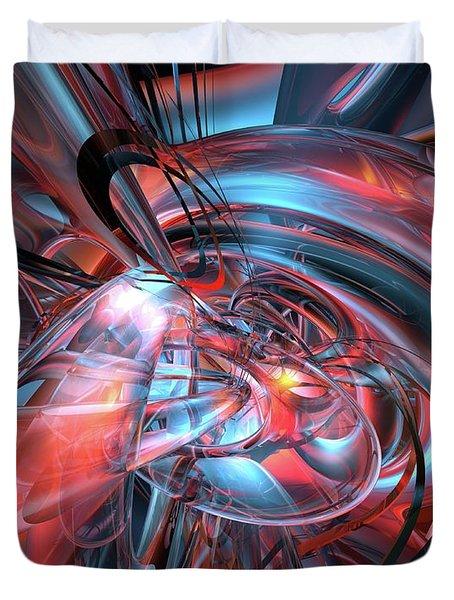 Dance Of The Glassmen Fx Duvet Cover by G Adam Orosco