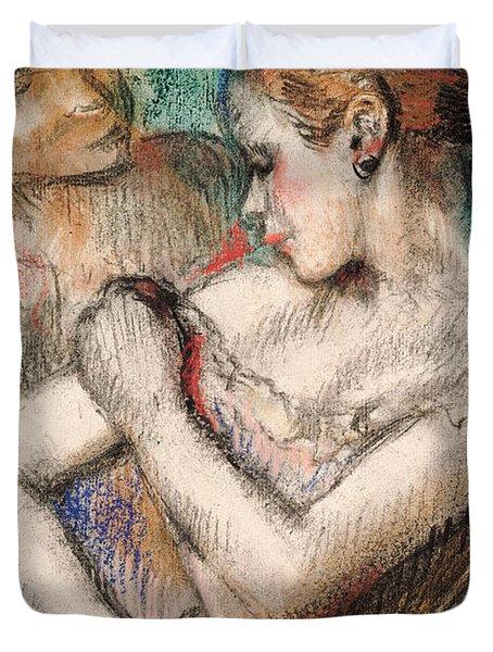 Dancer Duvet Cover by Edgar Degas