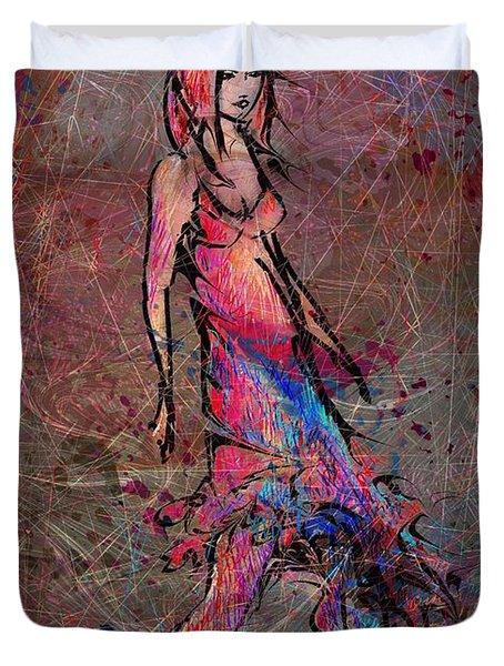 Dancing The Nights Duvet Cover by Rachel Christine Nowicki