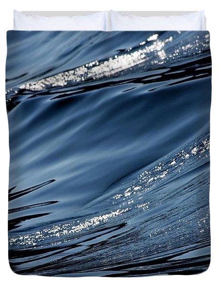 Dancing Waves Duvet Cover by Marie Jamieson