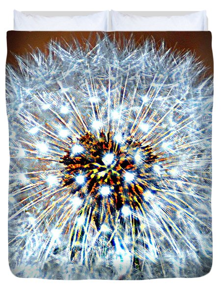 Dandelion Seed Duvet Cover by Marty Koch