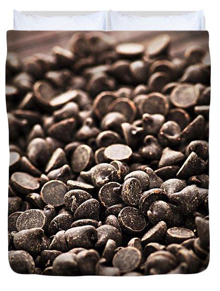 Dark Chocolate Chips Duvet Cover by Elena Elisseeva