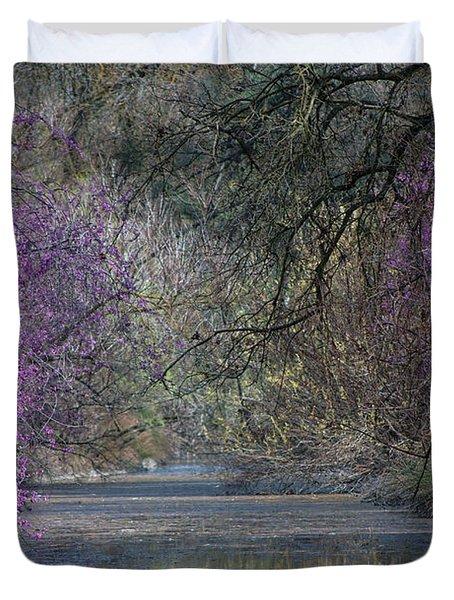 Davis Arboretum Creek Duvet Cover by Agrofilms Photography