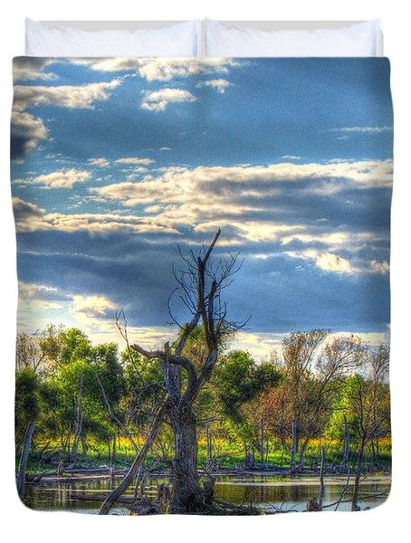 Dead Trees Duvet Cover by Jackie Novak