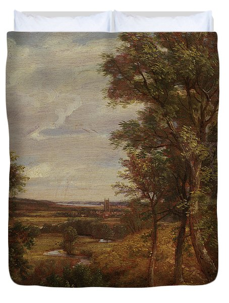 Dedham Vale Duvet Cover by John Constable