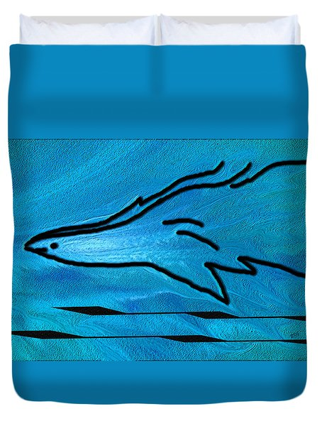 Deep Blue Duvet Cover by Ben and Raisa Gertsberg