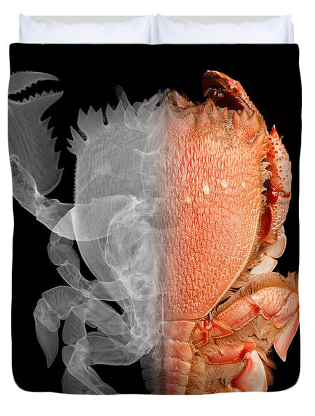 Deep Water Crab X-ray And Optical Image Duvet Cover by Ted Kinsman