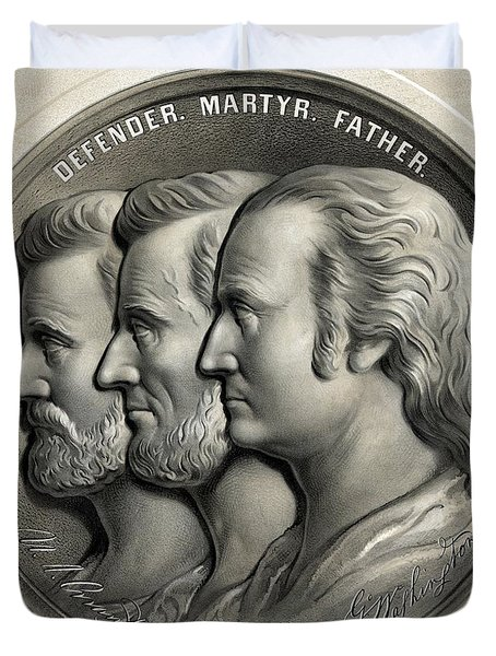 Defender Martyr Father Duvet Cover by War Is Hell Store