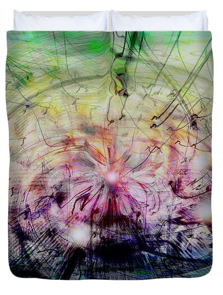 Deform To Form A Star Duvet Cover by Linda Sannuti