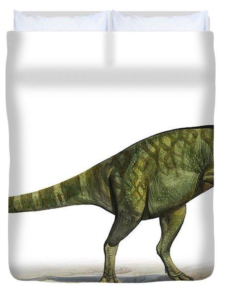 Deinocheirus Mirificus, A Prehistoric Duvet Cover by Sergey Krasovskiy