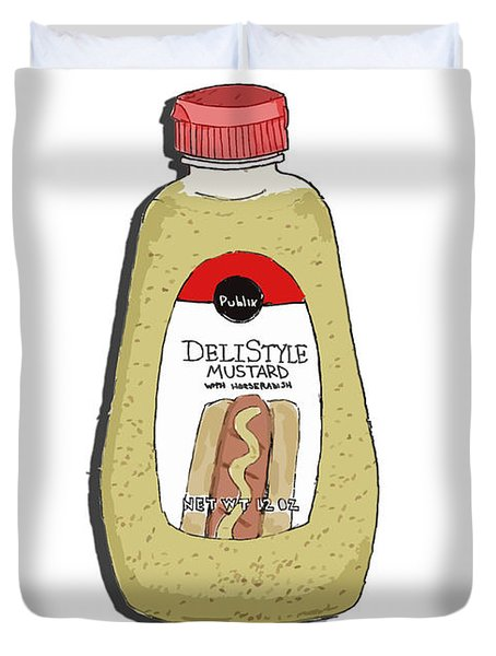 Deli Style Mustard Duvet Cover by George Pedro