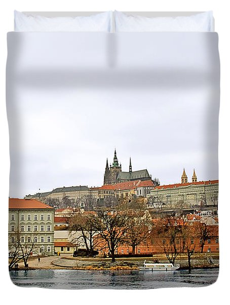 Die Moldau - Prague Duvet Cover by Christine Till