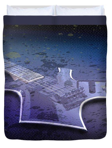 Digital-art E-guitar I Duvet Cover by Melanie Viola