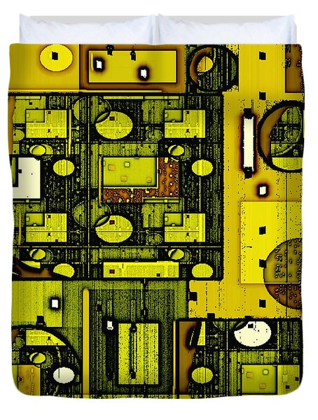 Digital Design 381 Duvet Cover by Nedunseralathan R