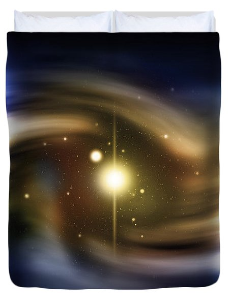 Digitally Generated Image Of Deep Space Duvet Cover by Vlad Gerasimov