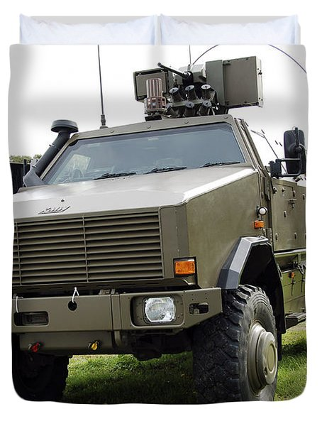 Dingo II Vehicle Of The Belgian Army Duvet Cover by Luc De Jaeger