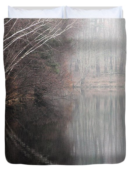 Divided By Nature Duvet Cover by Karol Livote