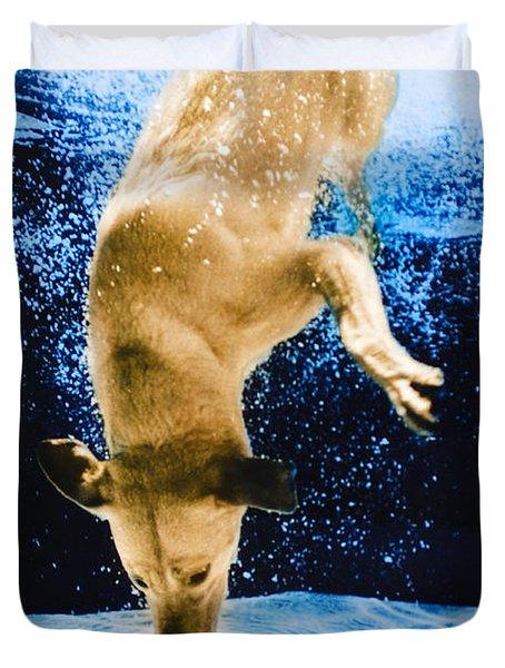Diving Dog 3 Duvet Cover by Jill Reger