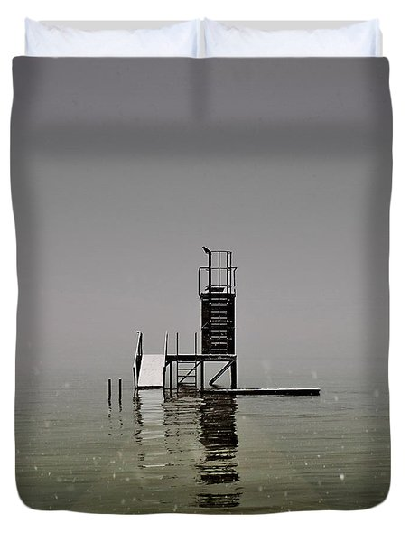Diving Platform Duvet Cover by Joana Kruse