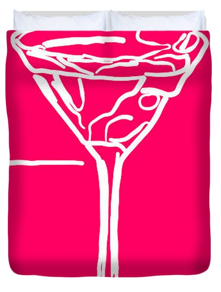 Do Not Panic - Drink Martini - Pink Duvet Cover by Wingsdomain Art and Photography