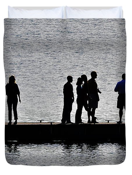 Dock Party Duvet Cover by Lisa Plymell