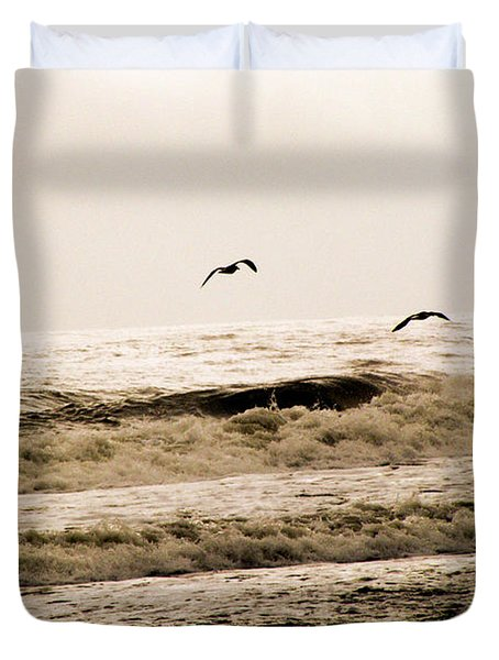 Dodging The Waves Duvet Cover by Trish Tritz