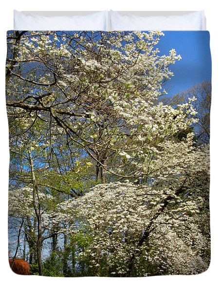 Dogwood Grove Duvet Cover by Debra and Dave Vanderlaan