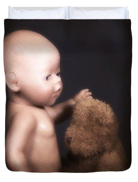 Doll And Bear Duvet Cover by Joana Kruse