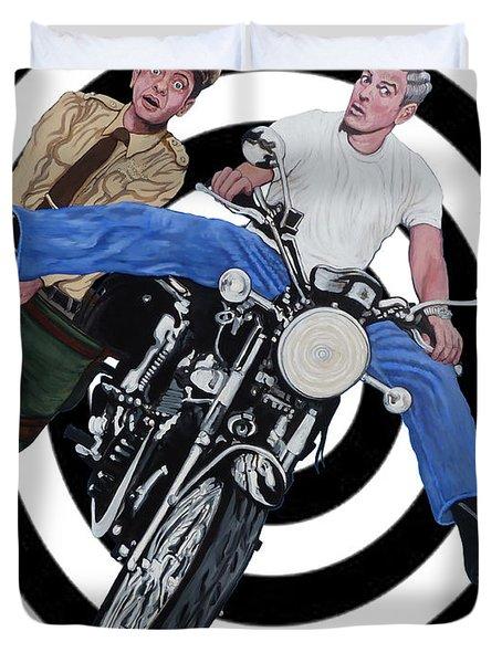 Don't Blink Duvet Cover by Tom Roderick