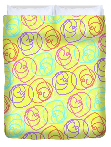 Doodles Duvet Cover by Louisa Knight