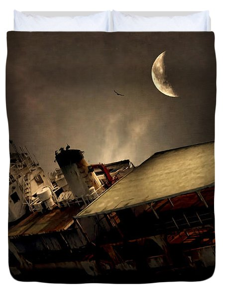Doomed To Gloom Duvet Cover by Lourry Legarde