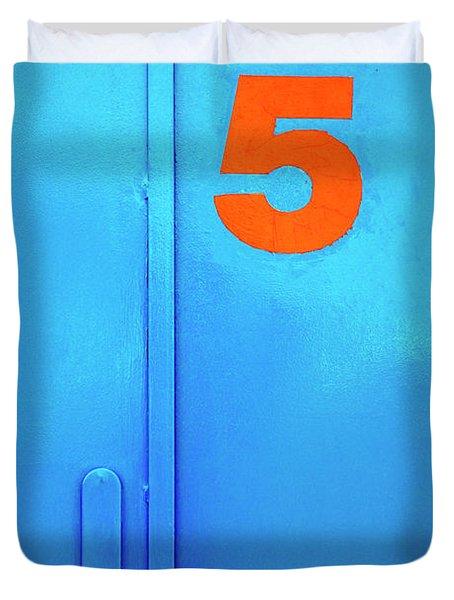 Door Five Duvet Cover by Carlos Caetano