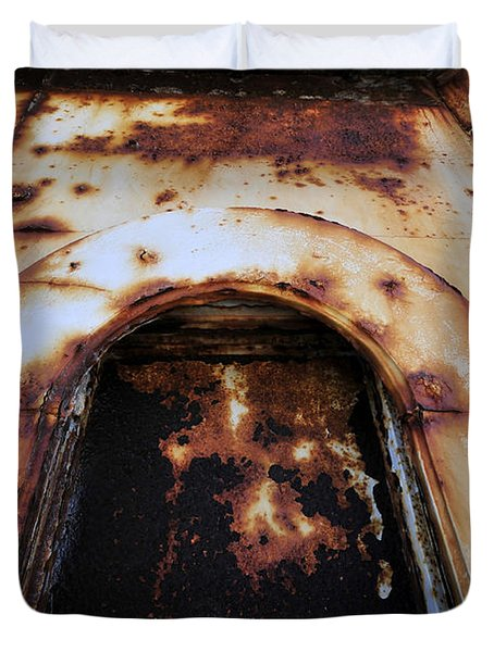 Door Of Rust Duvet Cover by David Lee Thompson