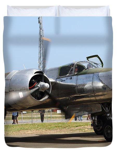 Douglas A26B Military Aircraft 7d15748 Duvet Cover by Wingsdomain Art and Photography