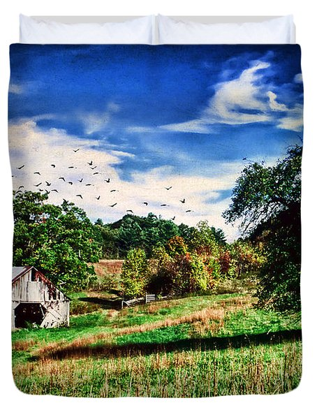 Down On The Farm Duvet Cover by Darren Fisher
