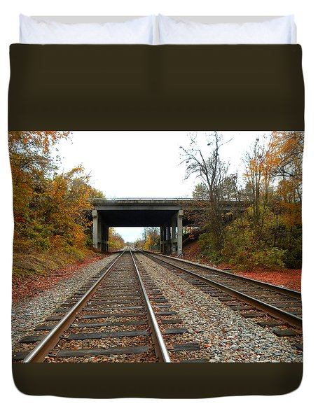 Down The Lines Duvet Cover by Sandi OReilly