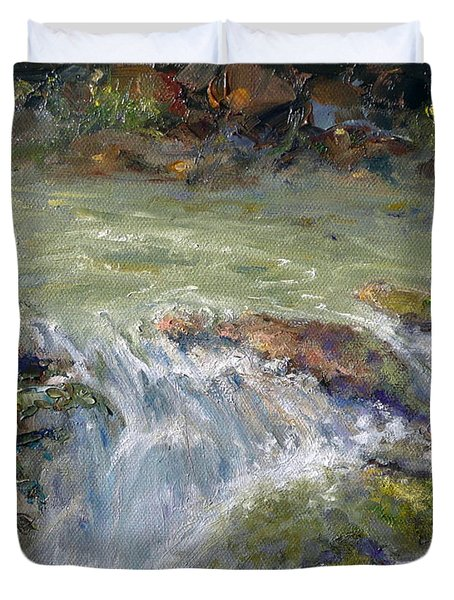 Downstream Duvet Cover by Marie Green