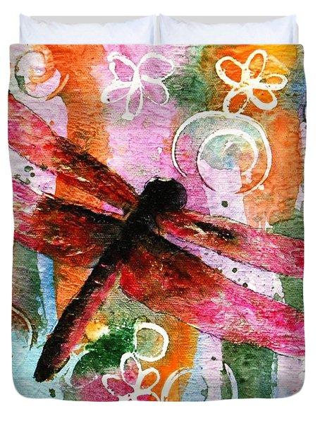Dragonfly Fairy I Duvet Cover by Miriam Schulman