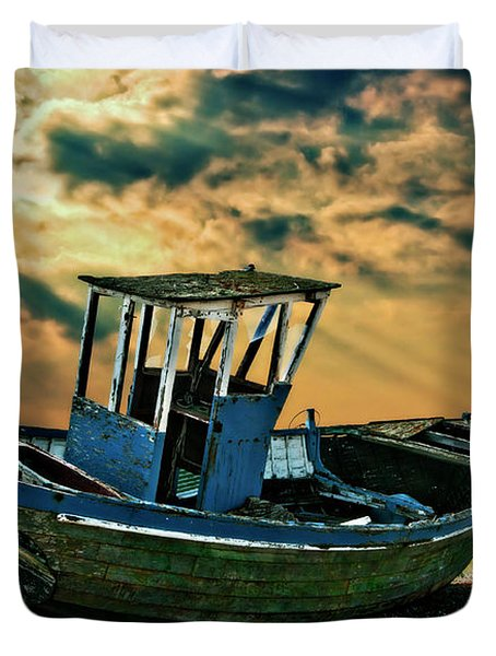 Dramatic Dungeness Duvet Cover by Meirion Matthias