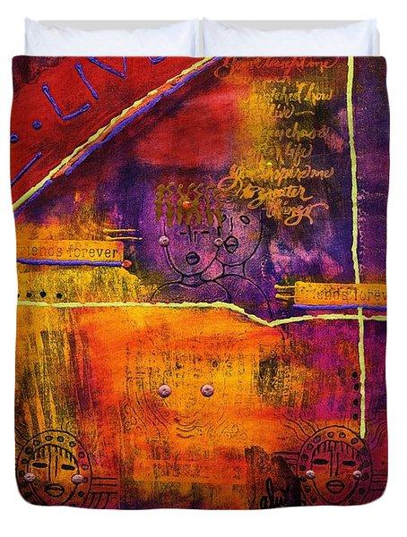 Dream Banner Duvet Cover by Angela L Walker