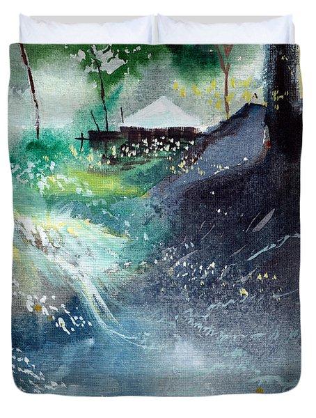 Dream House 2 Duvet Cover by Anil Nene